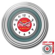 30cm Coca-Cola Clock with Chrome Finish, 590ms Style