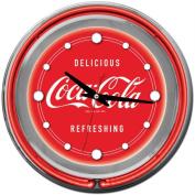36cm Coca-Cola Neon Clock, Delicious Refreshing