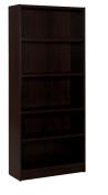 Nexera Essentials 182.9cm . 5 Shelf Bookcase - Espresso