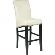 Office Star Products MET8730CM 30 in. Metro Parsons Barstool with Nail Heads - Cream Eco Leather