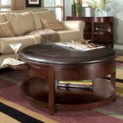 Magnussen T1096-45 Newark Wood Round Coffee Table