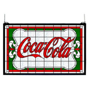 Meyda Tiffany Victorian Tiffany Coca-Cola Nouveau Stained Glass Window