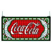 Meyda Tiffany 12'' H Victorian Tiffany Coca-Cola Web Stained Glass Window
