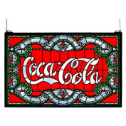 Meyda Tiffany Victorian Tiffany Coca-Cola Stained Glass Window