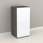 Nexera Allure 1-Door Storage Cabinet, White/Ebony