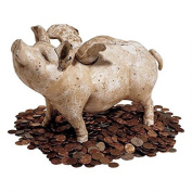 Design Toscano SP588 Medium When Pigs Fly Authentic Foundry Iron Bank
