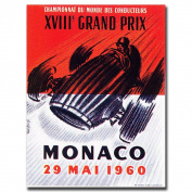 "Trademark Fine Art ""Monaco 4980cm Canvas Art by George Ham, 18x24"