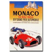 "Trademark Fine Art ""Monaco 4970cm Canvas Art by George Ham, 18x24"