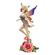 Design Toscano Flower Fairies of Butterfly Hollow Wild Rose Fairy, Multicoloured