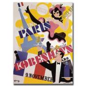 "Trademark Fine Art ""Paris Kobenhavs"" Canvas Art, 18x24"