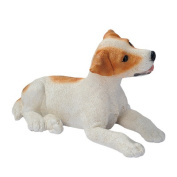 Design Toscano Brown and White Jack Russell Puppy Dog Statue, Multicoloured