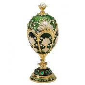 Design Toscano FH1076 the Petroika Larissa Faberge-Style Enamelled Egg Statue