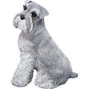 Sandicast Original Size Schnauzer Sculpture in Grey