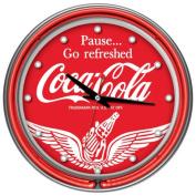 Wings Coca-Cola 36cm Neon Wall Clock