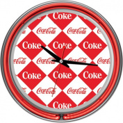 Checker Coca-Cola 36cm Neon Wall Clock