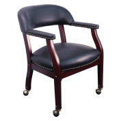 Flash Furniture Luxurious Conference Chair with Casters, Multiple Colours