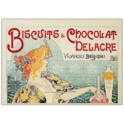 """Trademark Fine Art """"Biscuits & Chocolate Delacre"""" Canvas Art by Privat Livemont, 35x47"""