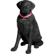 Sandicast Life Size Large Labrador Retriever Sculpture in Black