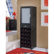 Dusk 15-Section Wine Cabinet with Small Drawer Organiser, Black
