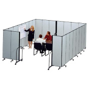 ScreenFlex SCXCFSL607DG Interlocking Mobile Partitions- 7 Panels- 13ft.1in.x6ft.