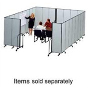 ScreenFlex SCXCFSL807DG Interlocking Mobile Partitions- 7 Panels- 13ft.1in.x8ft.
