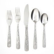 Cambridge Silversmiths 45-Piece Buffet Flatware Set, Conquest Sand