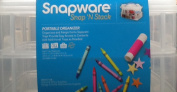 Snap 'n Stack Craft Organiser Medium Rectangle 2 Layers-13cm x 25cm X6.13cm