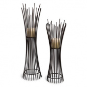 Contemporary Wrought Iron Tealight Candle Holder
