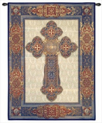 Gothic Cross Wall Tapestry - 38W x 53H in.