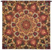 Rangoli Carmel Wall Tapestry - 53W x 53H in.