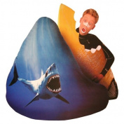 Elite Products Big Shots Large Twill Shark Teardrop Bean Bag Chair
