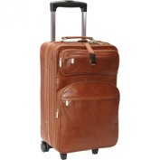 AmeriLeather Leather 55.9cm Expandable Carry On Pullman