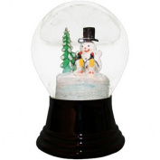 Alexander Taron Snowman and Penguins Snowglobe