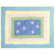 Patch Magic Flower Power Cotton Crib Toss Pillow