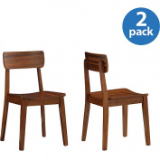 Boraam Industries Inc. 33312 Zebra Series Hagen Chairs set of 2 - Rich Walnut