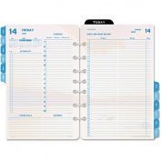 Day-Timer Coastlines Dated 2-Page-per-Day Organiser Refill, 14cm x 22cm , 2014