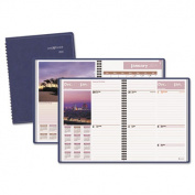 "Recycled Scenic Weekly/Monthly Planner, Blue, 8 1/4"" x 10 7/8"", 2014"