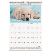 Recycled Puppies Wall Calendar, 15-1/2 x 22-3/4, 2014
