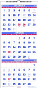 At-A-Glance Recycled 3-Month Reference Wall Calendar, 30cm x 70cm , 2013-2015