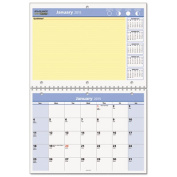 """QuickNotes Recycled Desk/Wall Calendar, 11""""x 8"""", 2014"""