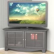 Nexera Pinnacle Black 2-Door Corner TV Stand for TVs up to 124.5cm