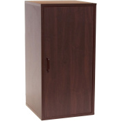 2-Section Double Storage Cube with Door, Dark Cherry