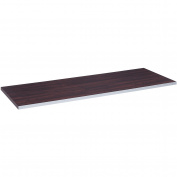 Quadrant Tabletop with Chrome Trim, Espresso