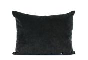 LJ Home Black velvet breakfast cushion