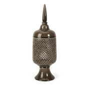 Polard Cutwork Canister with Lid, Large, Silver