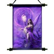 Design Toscano Celtic Dragon Fairy Canvas Wall Scroll Tapestry