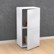 Nexera BLVD 1-Door Storage Module, White