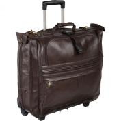AmeriLeather Leather Rolling Garment Bag