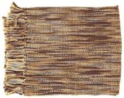 Surya TEE1007-5578 55 in. x 78 in. Teegan Throw - Brown-Gray Ivory