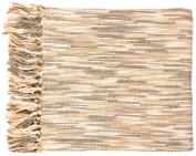 Surya TEE1001-5578 55 in. x 78 in. Teegan Throw - Cream-Gray